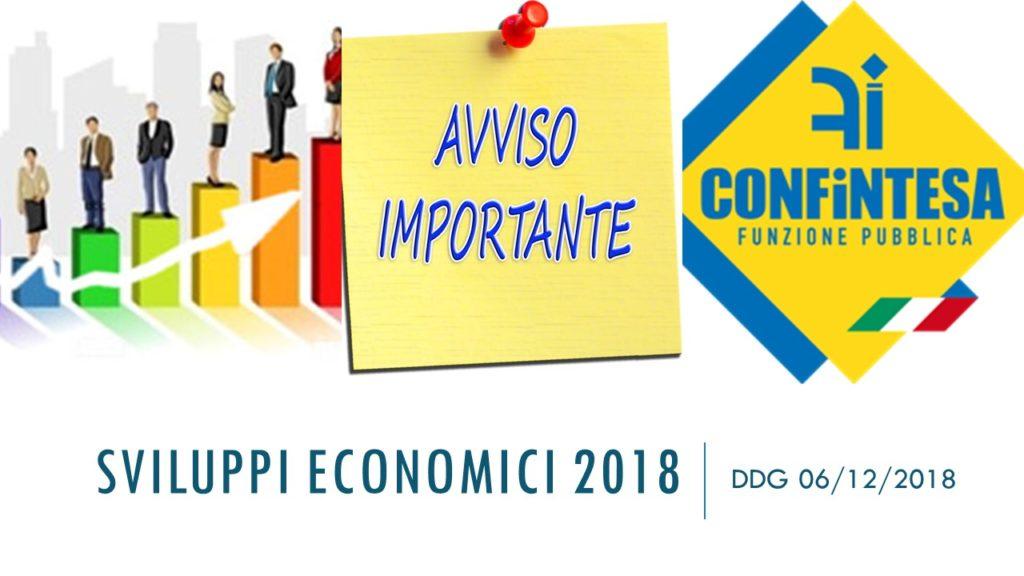 SVILUPPI ECONOMICI 2018 – TUTTA LA DOCUMENTAZIONE