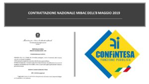 CONTRATTAZIONE NAZIONALE MIBAC DELL'8 MAGGIO 2019